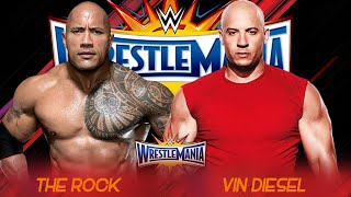 the rock vs vin diesel wrestlemania 33 promo hd