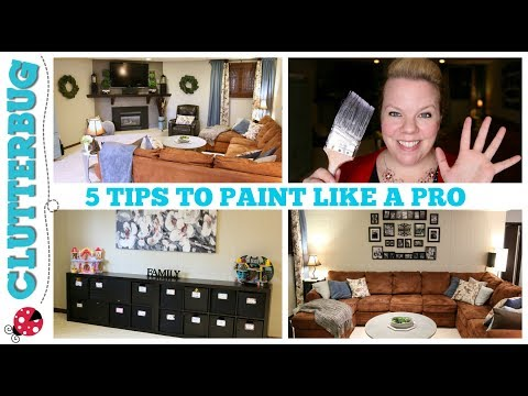 HOME DECORATING TIP - 5 TIPS TO PAINT A ROOM LIKE A PRO