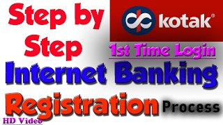 vuclip How To Register Kotak Net Banking | First time login | Registration Process