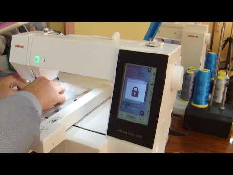 #4 Вышивальная машина JANOME MC 500E. Пробная вышивка.