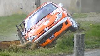 Vidéo Rallye des Gueules Noires 2015 crash, on the limit, mistake