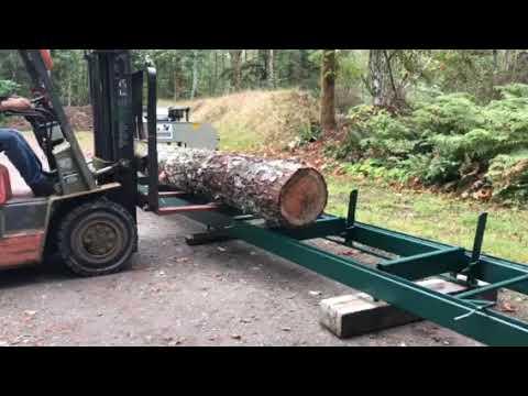 Loading a Log on our Heavy Duty Log Deck