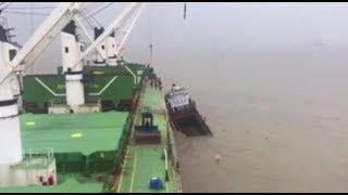 Batan gemideki denizcileri Türk mürettebat kurtardı