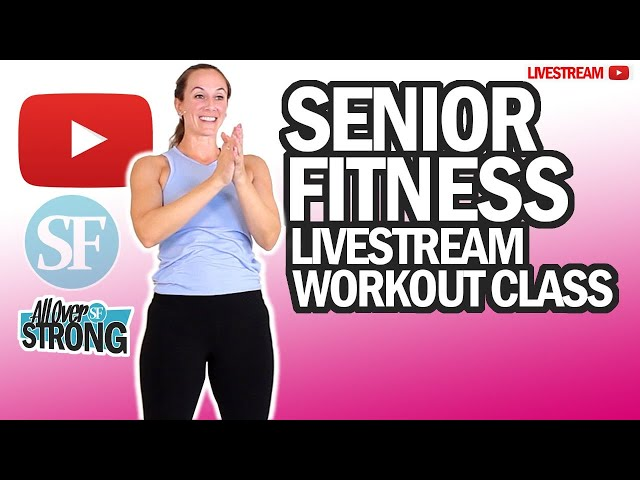 Cardio And Core Workout At Home For Seniors | Livestream Class