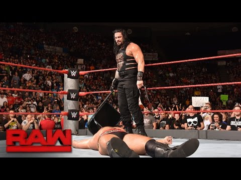 Thumbnail: Roman Reigns vs. Rusev - United States Championship Match: Raw, Sept. 26, 2016
