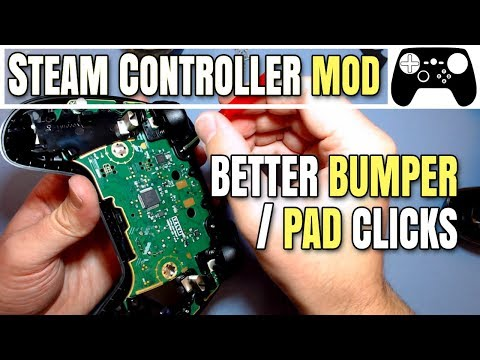 Steam Controller Mod - Softer Bumper & Touchpad Clicks - YouTube