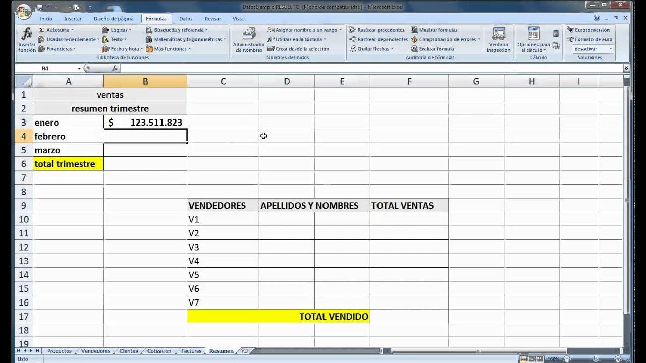 como hacer un resumen en excel 2007.mp4 - YouTube