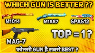 TOP 4 BEST GUNS IN CLOSE RANGE - #JONTYGAMING - GARENA FREEFIRE BATTLEGROUND