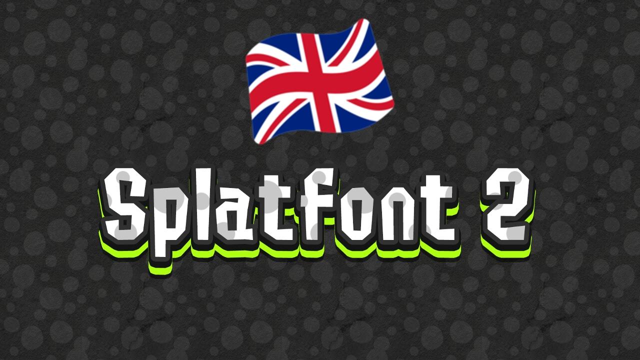 Splatoon 2 Font -