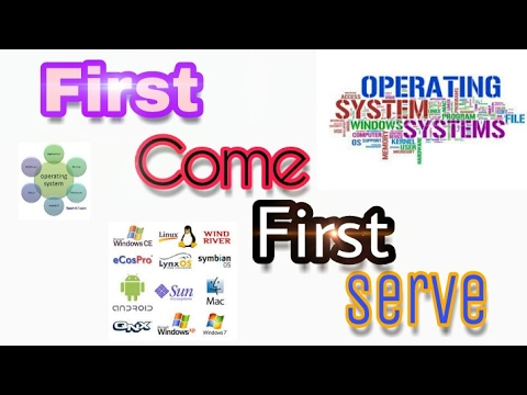 First Come First Serve - CPU Scheduling Algorithm || Operating system concept