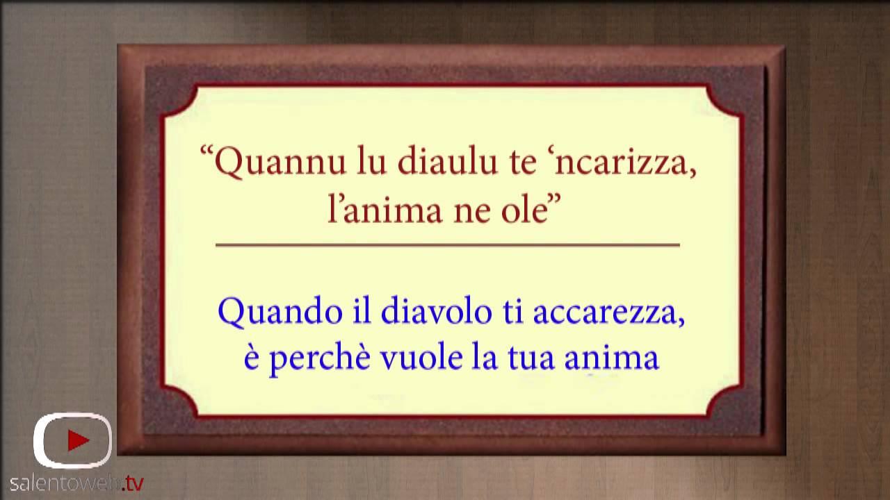 spesso Tutti pazzi per i Proverbi Salentini - YouTube AG43
