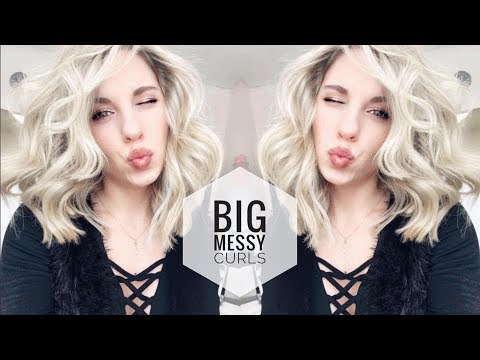 How to Curl Short Hair | Big Messy Curls
