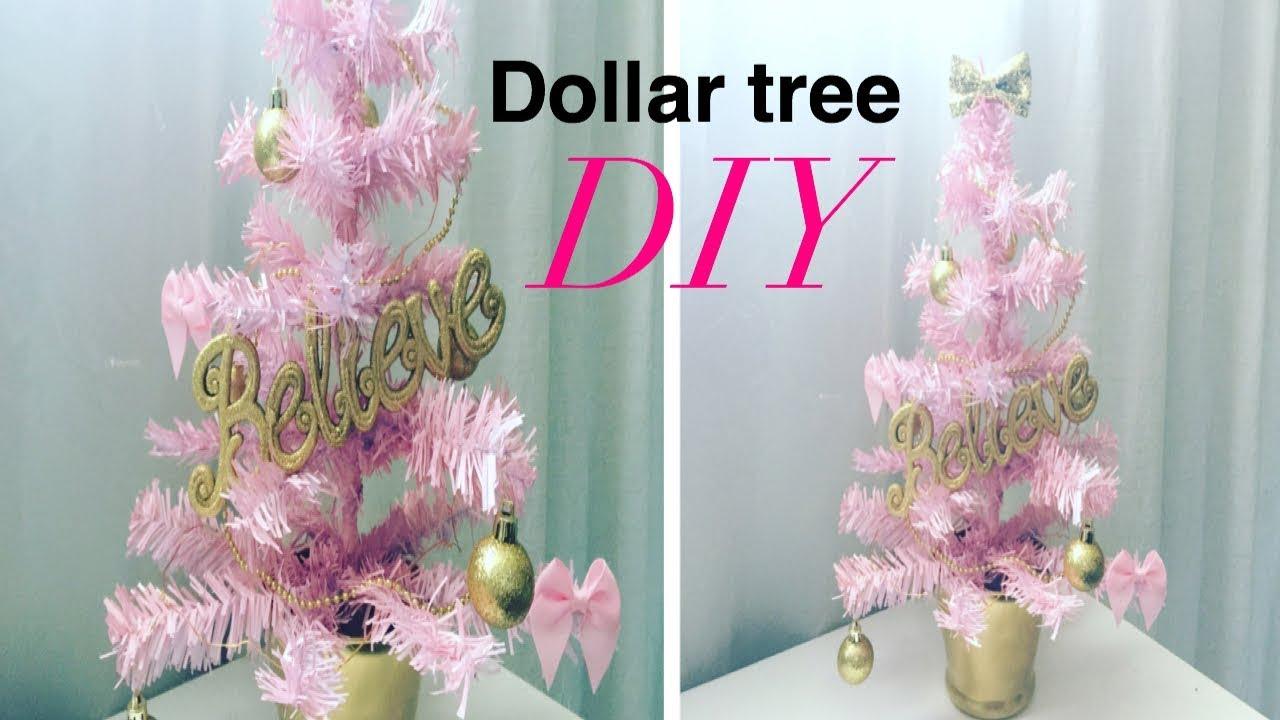 Dollar Tree DIY/ Pink Christmas Tree