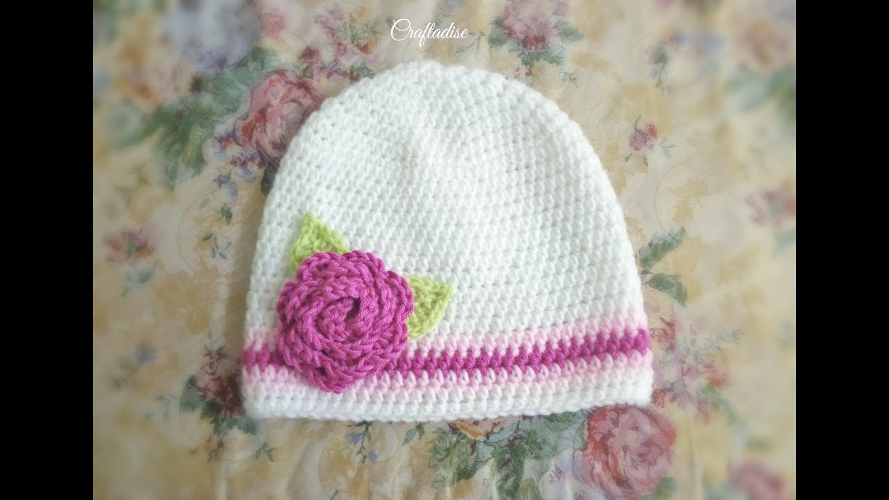 Made in Craftadise - Crochet Floral Baby Set - Hat Making Process ...