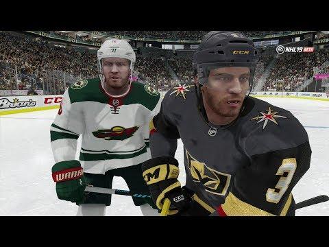 NHL 19 Open Beta Gameplay -  Online Versus Minnesota Wild vs Vegas Golden Knights (EA NHL 19)