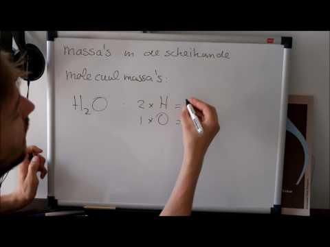 7: Massa's van atomen, moleculen en ionen