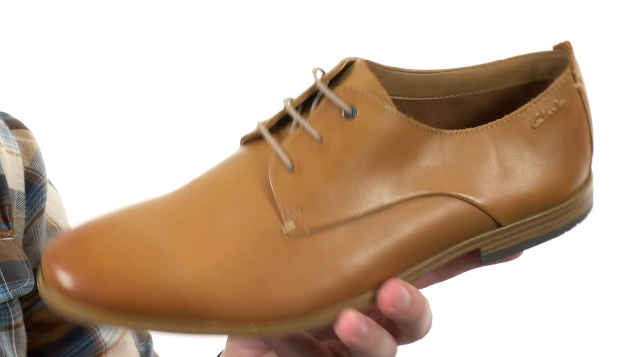Mens Clarks Chinley Walk Oxfords Shoes Tan Leather YQV24343