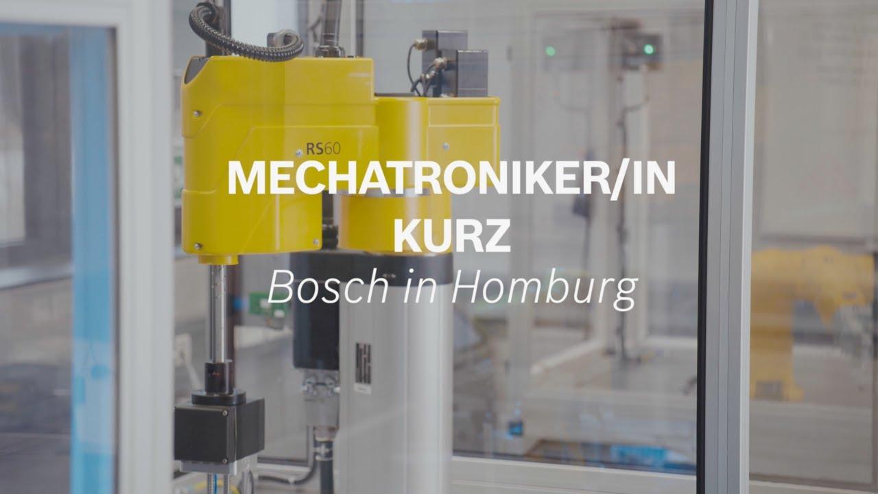 Ausbildungsberuf Mechatroniker kurz für Abiturienten bei Bosch in Homburg