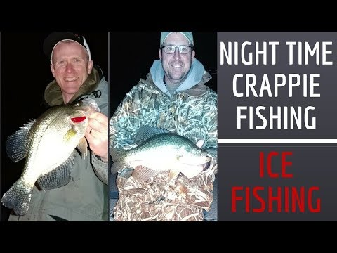 Ice Fishing For Crappie And Bluegill At Night