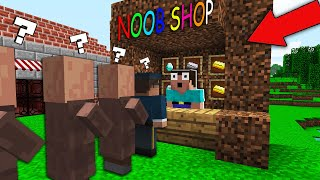 NOOB OPENED his SHOP! in Minecraft Noob vs Pro