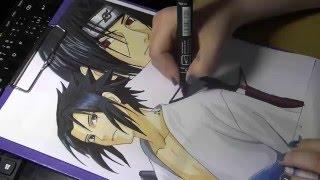 Drawing Sasuke and Itachi from Naruto