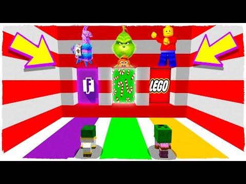 ¡NO ELIJAS LA DIMENSIÓN EQUIVOCADA! Fortnite, El Grinch y Lego en Minecraft