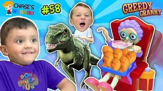 Chase's Corner? GREEDY GRANNY loves GOLDFISH Game w/ Shawn! | DOH MUCH FUN #58
