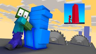 MONSTER SCHOOL STACK COLORS MINECRAFT ANIMATION