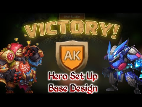 HBM AK | Set Up😎 | Jumabear😍 | No Lava😲😲 | Full Hero Set Up And Base Design | Castle Clash