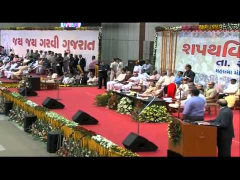 Smt. Anandiben Patel takes oath as the Chief Minister of Gujarat at Mahtma Mandir, Gandhinagar