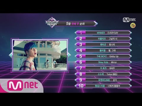What are the TOP10 Songs in 1st week of May?M COUNTDOWN 180503 EP