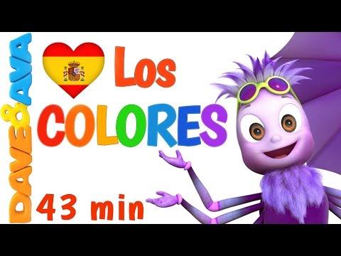 🌈 Сanciones Infantiles | La Сanción de los Colores – Colección | Canciones Infantiles de Dave y Ava🌈