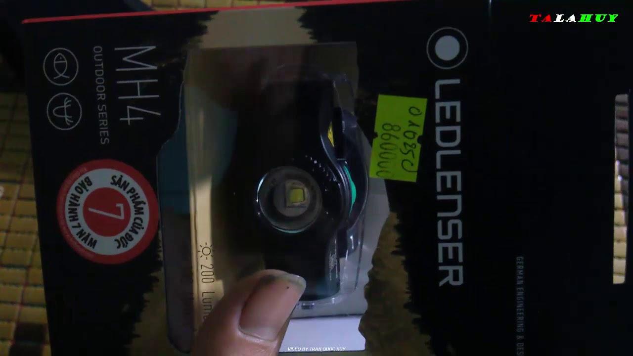 Mở hộp nhanh đèn pin đeo trán LEDLENSER MH4