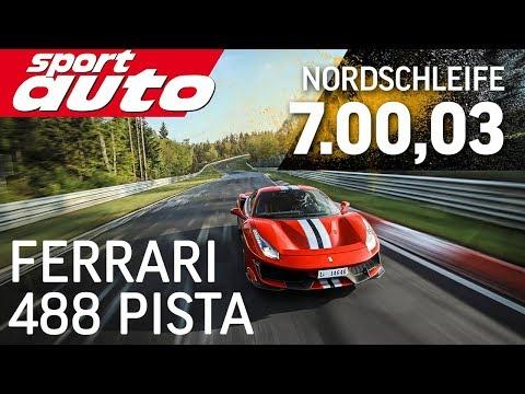 Ferrari 488 Pista 7.00,03 min | Nordschleife HOT LAP Supertest | sport auto
