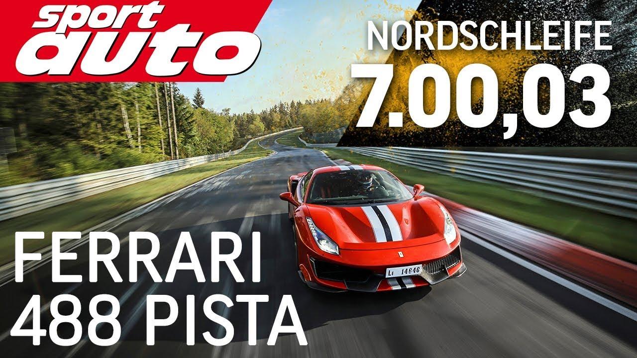 Ferrari 488 Pista 7.00,03 min   Nordschleife HOT LAP Supertest   sport auto