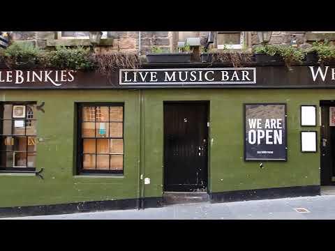 Edinburgh Scotland Walk Bannermans Bar, Banshee Labyrinth, Whistelbinkies ,Globe Bar, Hive Nightclub