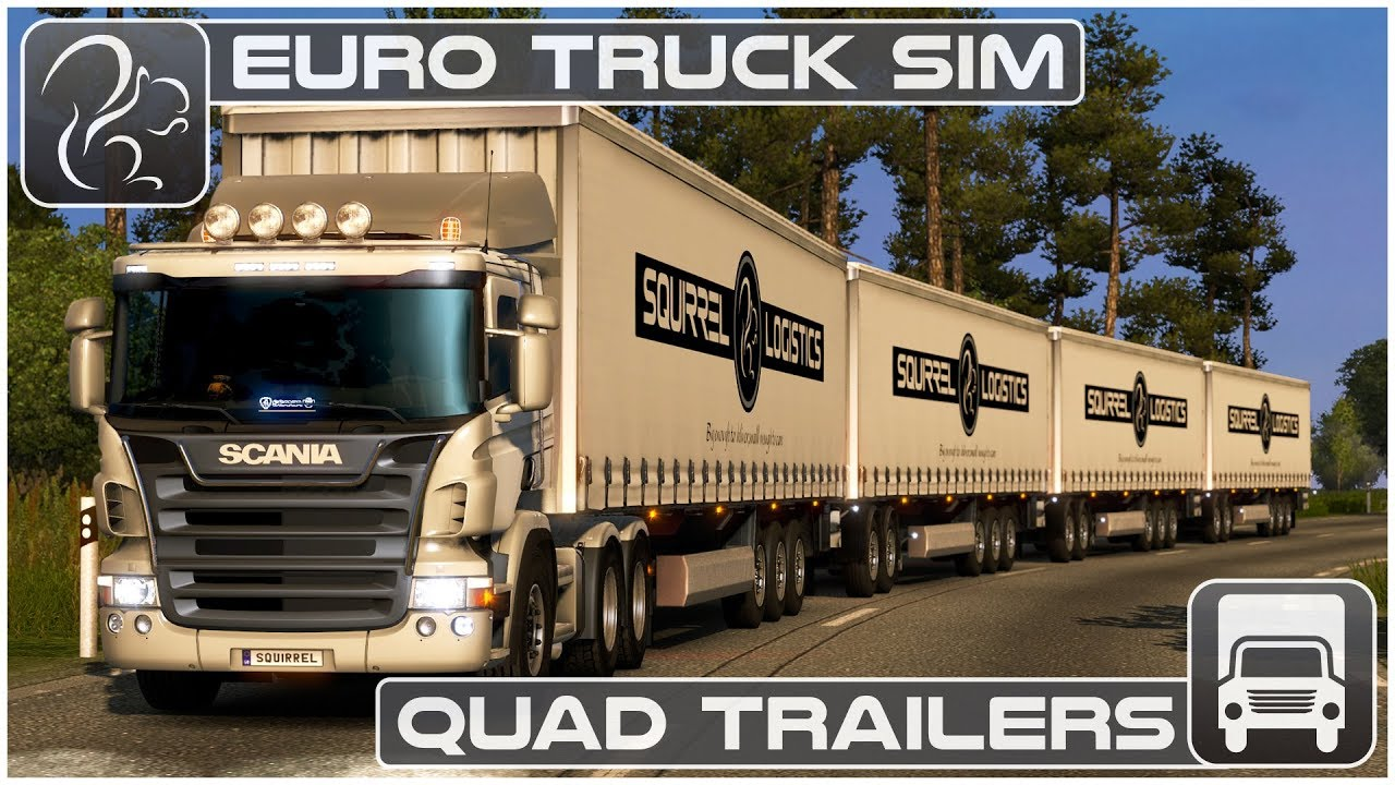Watch this YouTuber pull 4 trailers in European Truck
