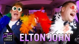 Elton John Carpool Karaoke(James Corden asks Elton John to help him navigate Los Angeles on a rainy day while the two sing some of his songs, including a Lion King classic and