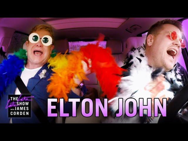 Џејмс Корден и Елтон Џон - пеење во автомобил