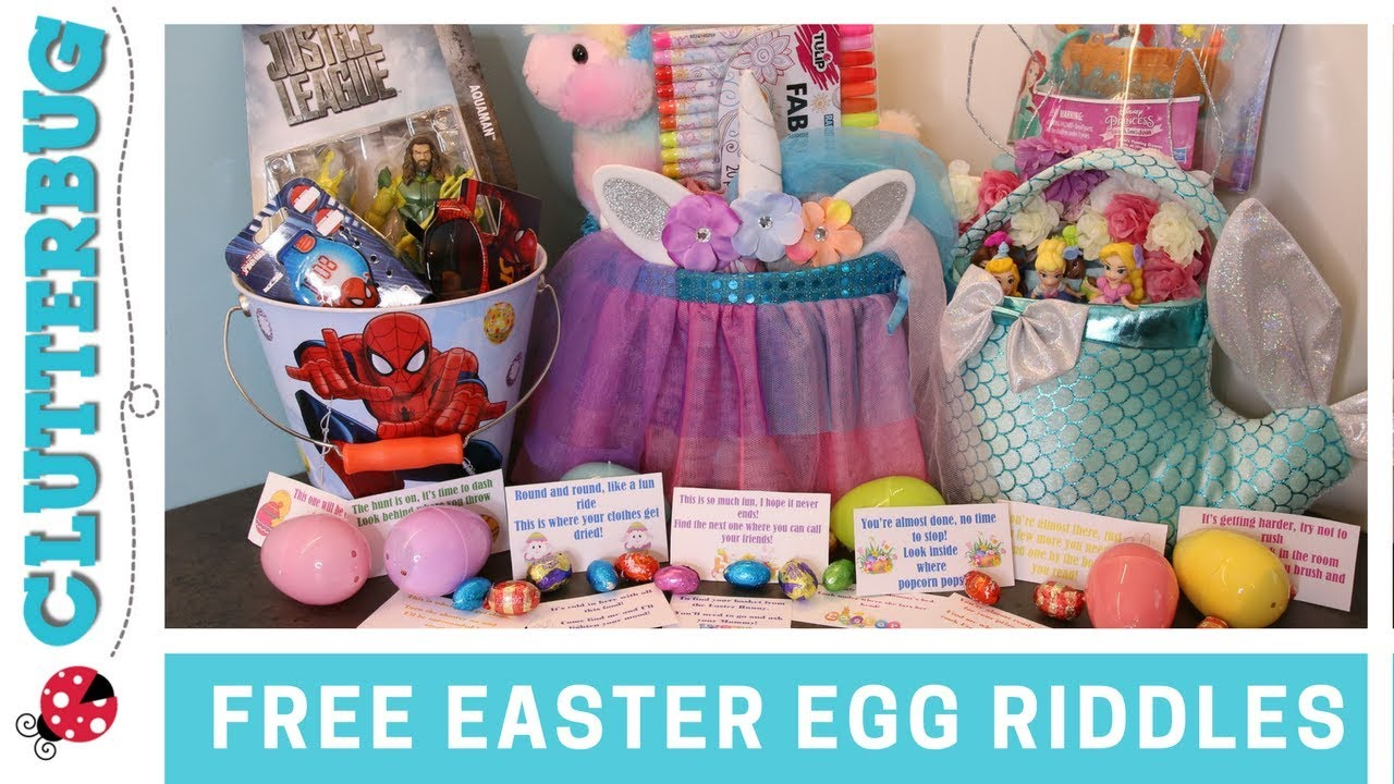 Free easter egg hunt riddles and basket ideas youtube free easter egg hunt riddles and basket ideas negle Image collections