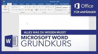 Microsoft Word (Grundkurs) Für Anfänger: Alles was du wissen musst | Microsoft Office Tutorial Serie