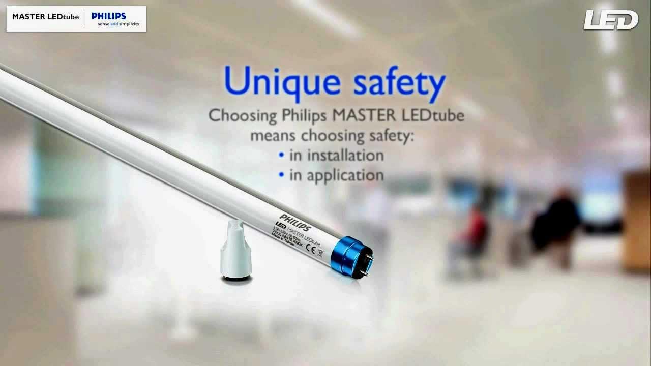 Lampada LED Philips Fluorescente MASTERLEDtube  YouTube