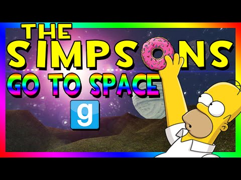 THE SIMPSONS GO TO SPACE | Gmod Space Race (Homer Simpson)