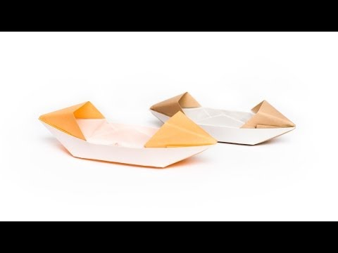 วิธีพับกระดาษเป็นรูปเรือเรือสำปั้น Origami Sampan