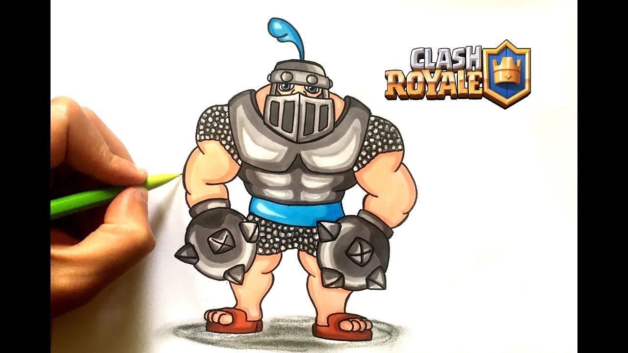 Desssin Mega Chevalier Clash Royale Youtube