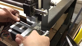 Building a metal cutting CNC router at home - (Stepper mount part 4)