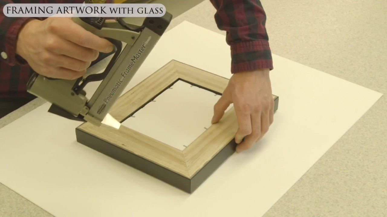 Framing Artwork with glass and spacers - YouTube