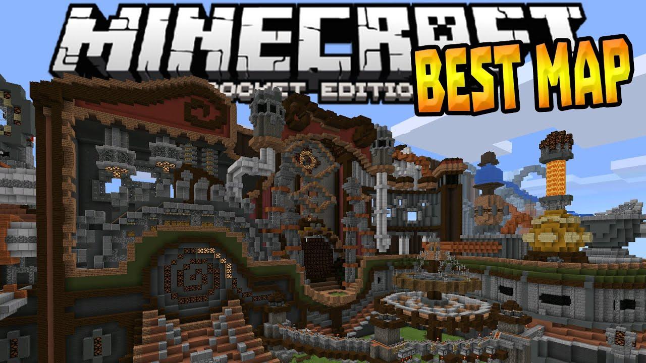 Minecraft pe gigantic city [the biggest city in pocket edition.