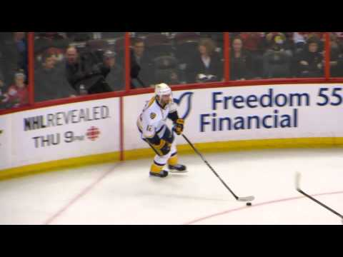 Mike Fisher During Pre-game Warm-up At The Predators @ Senators Hockey Game