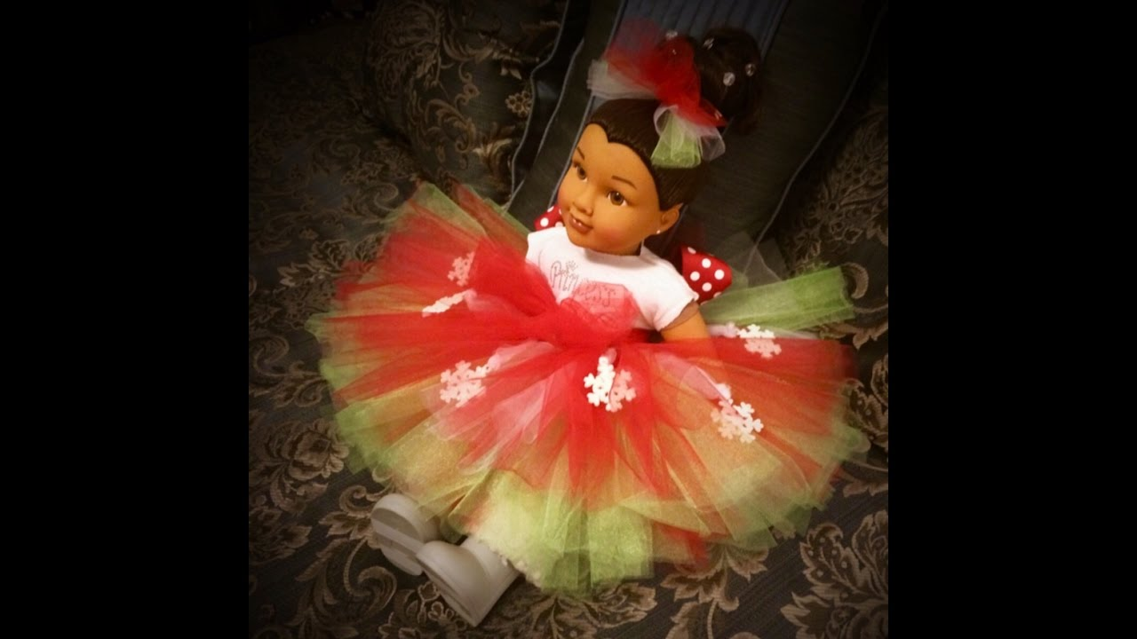 2f71a0d6c EASY-PEASY CHRISTMAS TUTU - RED, WHITE, GREEN - YouTube